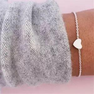 Jewelry - BOGO Silver Simple Heart Bracelet